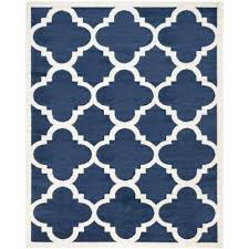 Outdoor Rug 6 X 9 6 X 9 Water Resistant Blue Outdoor Rugs Rugs The Home Depot