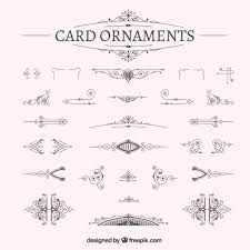 ornamental card decoration vector free