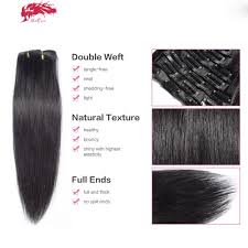 human hair clip in extensions 10pcs per lot hair clip in extensions hair extensions