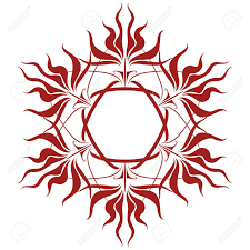 sun tribal tattoo sublime and magical wild flower corolla royalty free cliparts