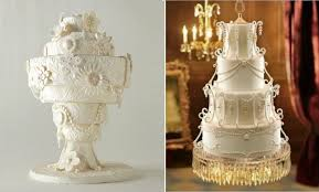 chandelier wedding cake by collette u0027s cakes left image right via