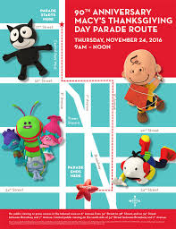2016 macy s thanksgiving day parade lineup and route map