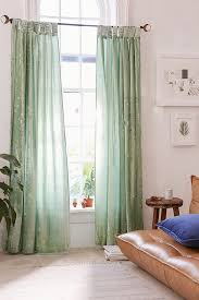 Blue Window Curtains Crushed Velvet Window Curtain Outfitters