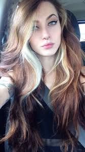 hair highlighted in front image result for hairstyles select chunky punk platinum highlights
