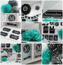 Black And White And Green Bedroom Turquoise Black U0026 Gray Classroom Theme Schoolgirlstyle