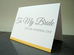 card to groom from on wedding day to my on our wedding day card gift from the groom 2460617