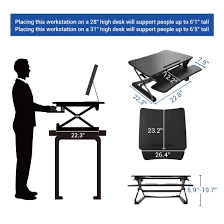 Sit Stand Desk Top Workstation by Standing Desk Converters Classicriser 27