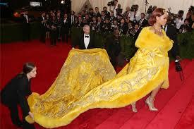 yellow dress met gala dresses most dramatic on carpet steps footwear news
