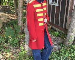 Red Coat Halloween Costume Vintage Halloween Costume Etsy