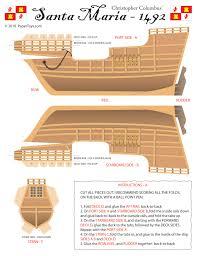 santa maria columbus ship paper model paper toys models and