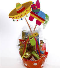 mexican gift basket gift basket chips salsa hot tamales candies corona salt and