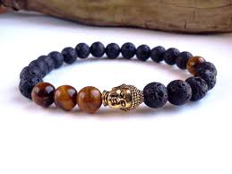 mens bracelet with stones images Mens buddha bracelet lava stone bracelet tigers eye jpg