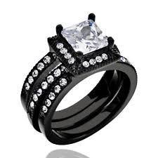 black wedding ring sets black wedding band sets ebay