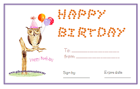 owl birthday gift certificate template pinned by www myowlbarn
