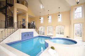 majestic house indoor swimming pool with square shaped pool and