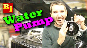 how to change a water pump 3 7l v6 youtube