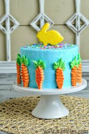 Carrot Decoration For Cake Haniela U0027s Easter Cake Decorated With Buttercream Carrots And