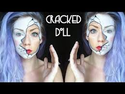 easy diy halloween costumes creepy doll makeup tutorial youtube easy cracked doll makeup tutorial youtube