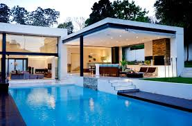 House Plans For Patio Homes Pool Patio Ideas Bring Modernity Luxury Flat Roof House