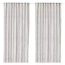 White And Grey Curtains Dagrun Curtains 1 Pair Ikea