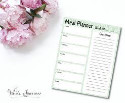 weekly meal planner weekly menu planner meal planning
