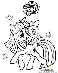 Twilight Coloring Pages On My Little Pony Coloring Pages Twilight Pony Color Pages