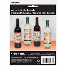 vintage wine bottle labels 4 count walmart