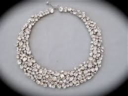 crystal collar statement necklace images Crystal mosaic bridal jewelry collection the crystal rose bridal jpeg
