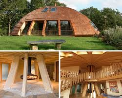 Rotating EcoFriendly Dome Home Spins On A Central Axis - Eco home designs
