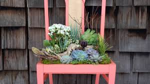 diy succulent chair planter youtube