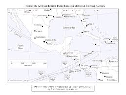 Black And White Map Of Central America by Total Solar Eclipse Of 2001 June 21