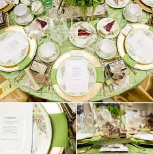 Gold Table Setting by Ceres Garden Club San Francisco Event Photographer