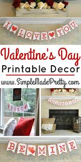 Valentines Day Decor Office by Valentine U0027s Day Printable Decor Simple Made Pretty