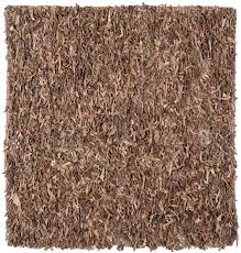 Safavieh Leather Shag Rug Safavieh Knotted Brown Leather Shag Area Rug Lsg511k Ebay