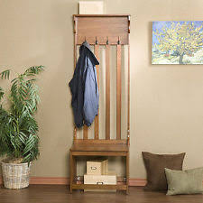 Metal Hall Tree Bench Coat Rack Bench Metal Hall Tree Wood Seat Entryway Storage Shelves