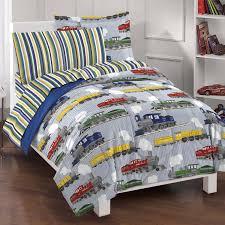 Bed Sets Amazon Com Dream Factory Trains Ultra Soft Microfiber Boys