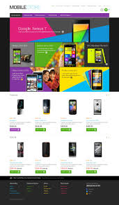 website template 47921 mobile shop store custom website template