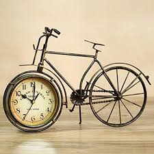 sweet home rustic bronze copper large bicycle clock decorative
