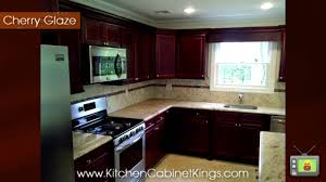 cherry glaze kitchen cabinets by kitchen cabinet kings youtube