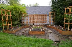 divine image of garden landscaping decoration using rectangular