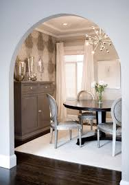 Silver Dining Table And Chairs Silver Bedside Tables Dining Room Transitional With White Rug