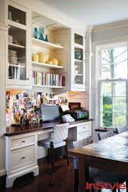 Kitchen Desk Organization This Beautiful Built In Desk In The Seinfeld Home Helps The