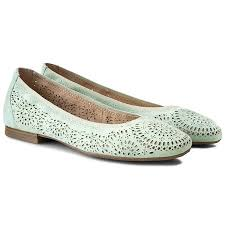 22500 Flats Caprice 9 22500 26 Mint Suede 704 Ballerina Shoes Low