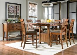 dining room counter height tables oak park counter height table and four stools oak levin furniture