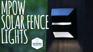 Solar Powered Fence Lights - mpow solar fence lights review solar powered waterproof light