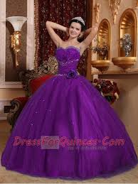 purple ball gown tulle sweetheart floor length cheap quinceanera