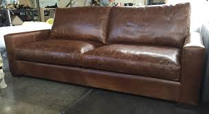 Vintage Leather Sofas 90 Inch Braxton Twin Cushion Leather Sofa In Italian Brompton