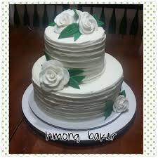 simple design 2 tier wedding cake intricate cakes 25th anniversary