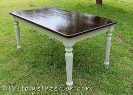 Refinishing A Dining Room Table With Paint And Wood Stain Hometalk - Refinish dining room table