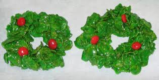 christmas holly wreath clusters recipe genius kitchen